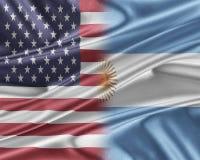 USA and Argentina. Royalty Free Stock Photos