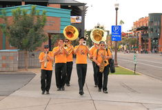 USA, Arizona: ASU Dixie Combo - Marching Stock Image