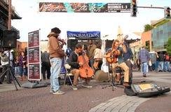 USA, Arizona: Avant Garde String Trio. The Avant Garde String Trio The Missing Parts entertained at the Festival of the Arts in Tempe (Dec 6 - 8, 20q3). Oliver royalty free stock photo