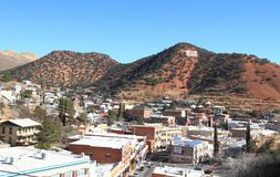 USA, Arizona/Bisbee: Cityscape of Historic Bisbee Royalty Free Stock Images