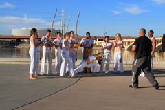 USA, Arizona:  A Capoeira Group Performing Royalty Free Stock Images