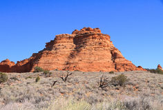 USA, Arizona: Coyote Buttes South -  Landscape with Sandstone Butte Stock Photos