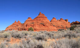 USA, Arizona: Coyote Buttes South -  Landscape with Sandstone Buttes Royalty Free Stock Photography