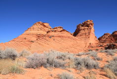 USA, Arizona: Coyote Buttes South -  Landscape with Sandstone Buttes Royalty Free Stock Photo