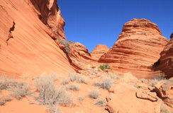 USA, Arizona: Coyote Buttes South -  Sculpted Sandstone Layers Stock Photography