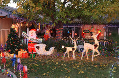 USA, Arizona: Front Yard Christmas Stock Image