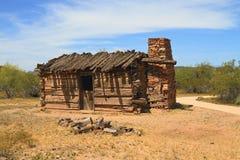 USA Arizona: Gammalt västra - ranch (omkring 1880) Royaltyfria Bilder