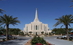 USA Arizona/Gilbert: Ny mormontempel (2014) Arkivbilder