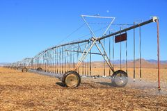 USA, Arizona: Lateral Move Irrigation System Stock Photos