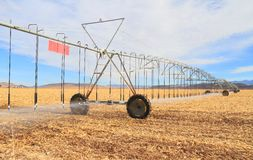 USA, Arizona: Lateral Move Irrigation System Royalty Free Stock Images