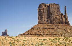 USA Arizona Mitten Butte at Monument Valley Royalty Free Stock Photo