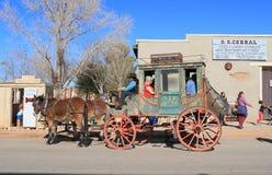 USA Arizona, nagrobek,/: Stary zachód - Stagecoach obrazy stock