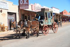 USA Arizona, nagrobek,/: Stary zachód - Stagecoach obrazy royalty free