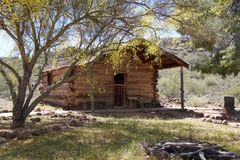USA,Arizona: Old West - Home/Cabin (1878) Stock Photos
