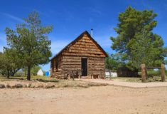 USA, Arizona: Old West -  School House (1880) Stock Photography