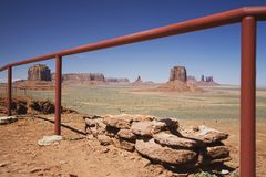 USA Arizona railing in Monument Valley Stock Photography