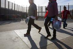 USA - Arizona - San Luis Border. USA - Arizona - San Luis - some mexican cross the border royalty free stock image