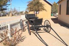 USA, Arizona: Stary zachód - Antykwarski powozik fotografia royalty free