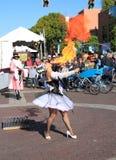 USA, Arizona: Street Artist - Fire Breathing Royalty Free Stock Image