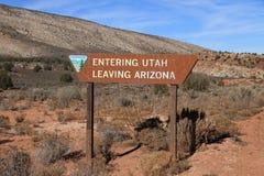 USA, Arizona/Utah: State Line Royalty Free Stock Photos