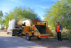 USA, Arizona: Wood Chipper in a Park Royalty Free Stock Images
