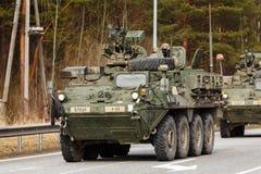 USA-Armee Dragoner-Fahrt Lizenzfreies Stockfoto