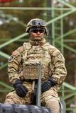 USA-Armee Dragoner-Fahrt Lizenzfreie Stockfotografie