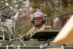 USA-Armee Dragoner-Fahrt Lizenzfreie Stockfotos