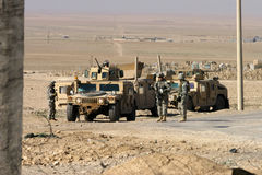 USA-Armee-Soldaten im Irak Stockbilder