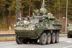 USA army Dragoon Ride. Dragoon Ride - USA army crossing Baltic states, Eastern Europe. First stop at Latvia near Jelgavkrasti Stock Photography