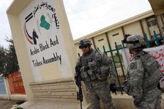 Usa Army Soldiers in Iraq royalty free stock photo
