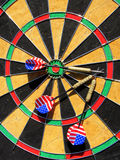 USA arrows on a Dartplate Royalty Free Stock Photos