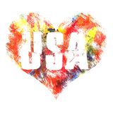 USA art. Street graphic style USA. Fashion stylish print. Template apparel, card, label, poster. emblem, t-shirt stamp graphics. Handwritten banner, logo or Royalty Free Stock Photos