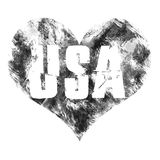 USA art. Street graphic style USA. Fashion stylish print. Template apparel, card, label, poster. emblem, t-shirt stamp graphics. Handwritten banner, logo or Stock Photography