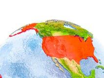 USA auf Modell von Erde Stockfoto