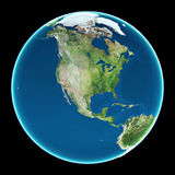 USA auf Planet Erde Lizenzfreies Stockbild