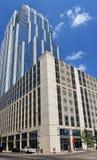 USA-Austin in Texas, 2015 Wolkenkratzer auf der Brazos-Straße in Australien Lizenzfreie Stockfotos
