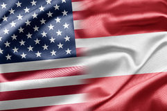 USA and Austria Stock Photography