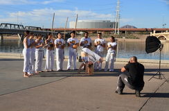 USA, AZ: Capoeira Group - Photo Session Royalty Free Stock Photos