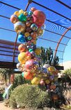 USA, AZ: Chihuly Exhibit - Polyvitro Chandelier, 2 Stock Images
