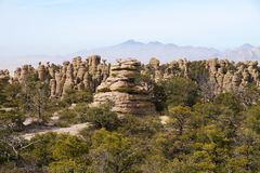 USA, AZ/Chiricahua: Landscape With Standing Rocks Royalty Free Stock Images