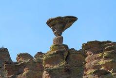 USA, AZ/Chiricahua Mountains: Mushroom Rock Royalty Free Stock Photo