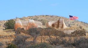 USA AZ: Gammalt västra - fördärvar av fortet Bowie/lager Arkivfoton