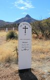 USA, AZ: Old West - Graveyard Of Fort Bowie/Old Headstone Stock Photos