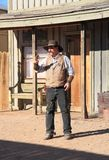 USA, AZ: Old West - Gunfight Actor/Marshal Royalty Free Stock Images