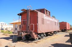 USA, AZ: Old West - Southern Pacific Caboose Stock Images