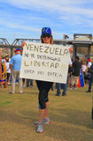 USA, AZ: Rally For Venezuela > Protest Sign Royalty Free Stock Photo