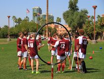 USA, AZ: Rare Sport - Quidditch > Game Strategy Royalty Free Stock Image