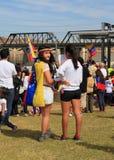 USA AZ: Samla för Venezuela > två lyssnare Arkivbild