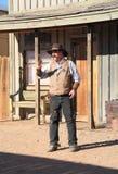 USA, AZ: Stary zachód aktor, marszałek - strzelaniny/ Obrazy Royalty Free